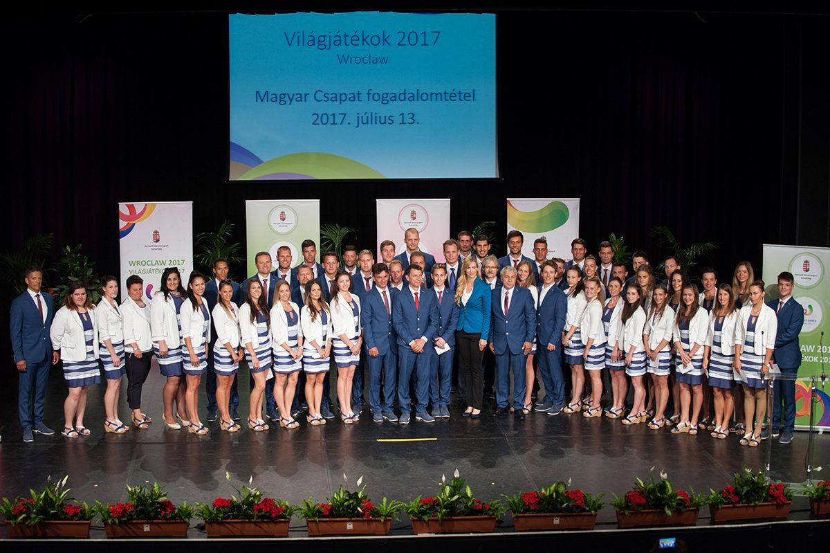 A 2017-es wroclawi Világjátékokra induló magyar delegáció