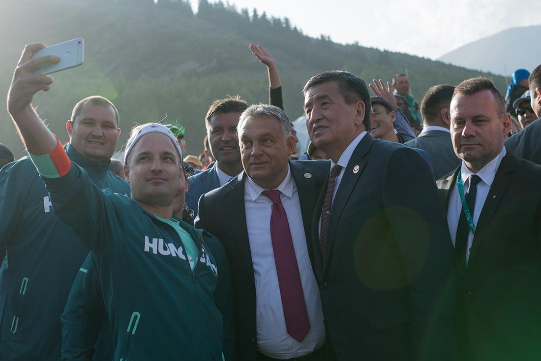 Orbán Viktor miniszterelnök is meglátogatta a III. Nomád Világjátékokat
